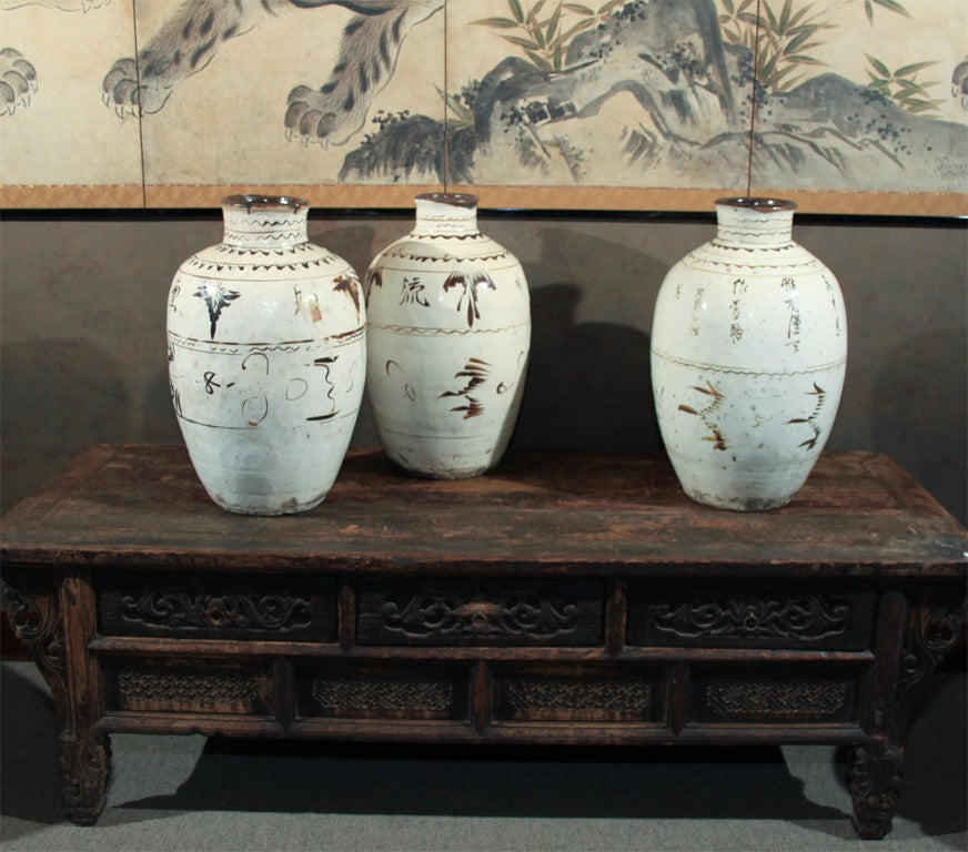 Chinese Ceramic Shanxi Sujo Ware Wine Pots Vases At 1stdibs