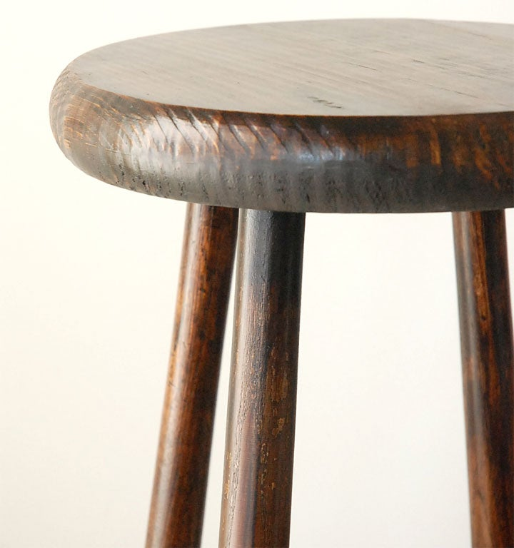 Wonderful And Folky Baseball Bat Bar Stools And Table At