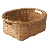 19THC RARE FORM BASKET FROM NEW ENGLAND AND PRISTINE CONDITION