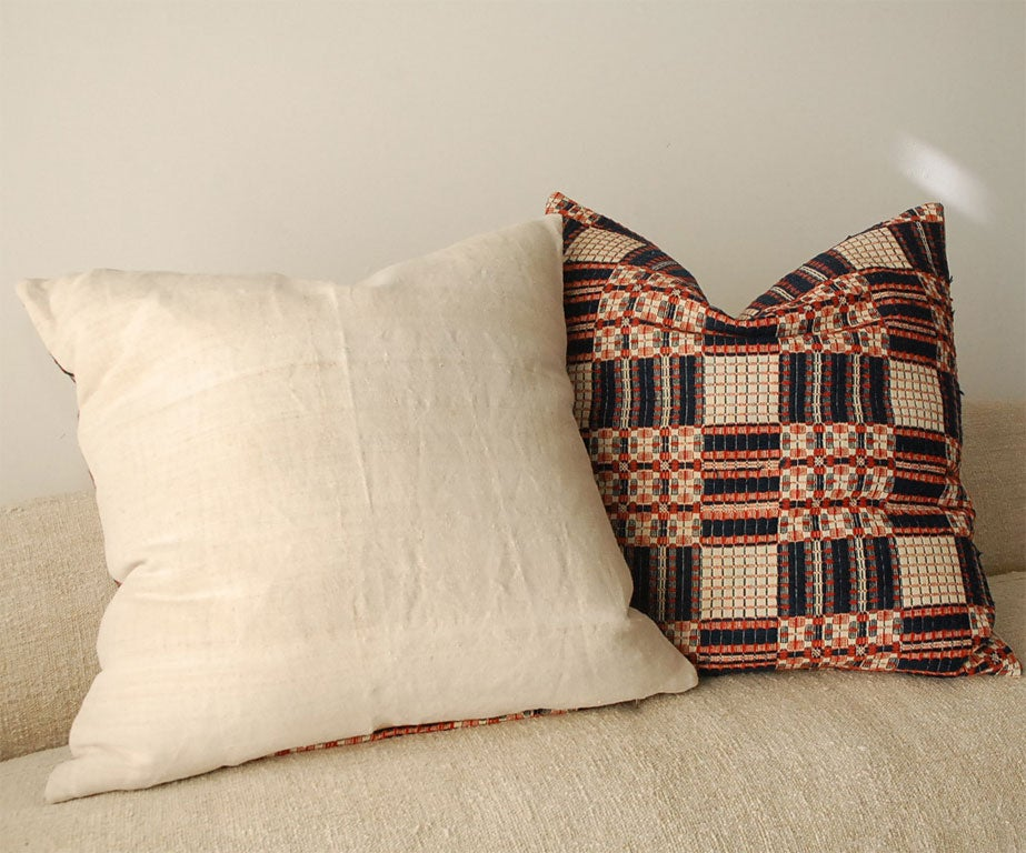 red and blue coverlet pillows at 1stdibs