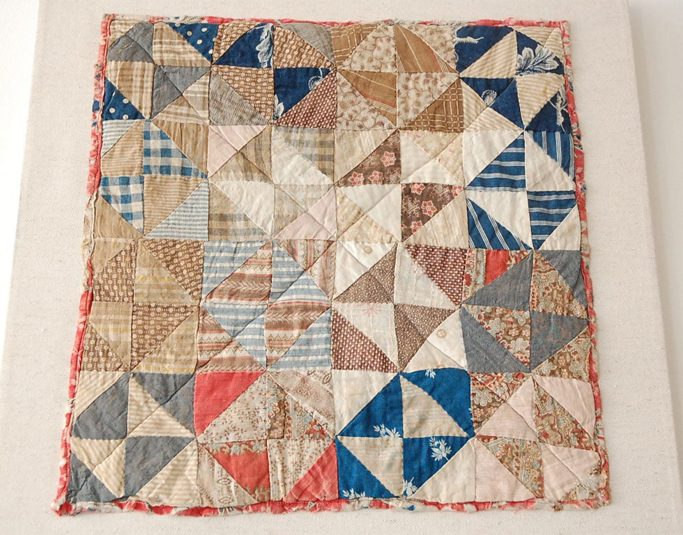 American 19TH C. DOLL QUILT ON A PROFESSIONAL MOUNT