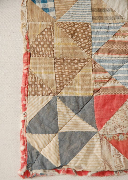 Cotton 19TH C. DOLL QUILT ON A PROFESSIONAL MOUNT