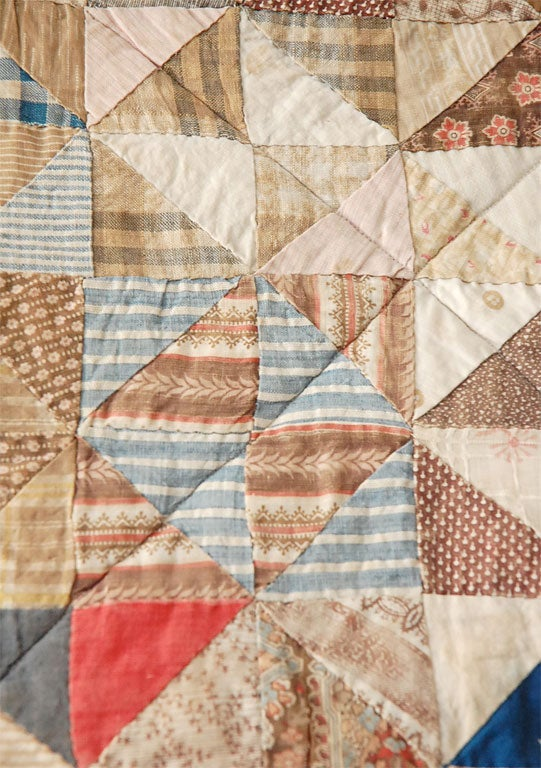 19TH C. DOLL QUILT ON A PROFESSIONAL MOUNT 1