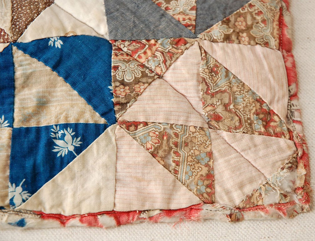 19TH C. DOLL QUILT ON A PROFESSIONAL MOUNT 2