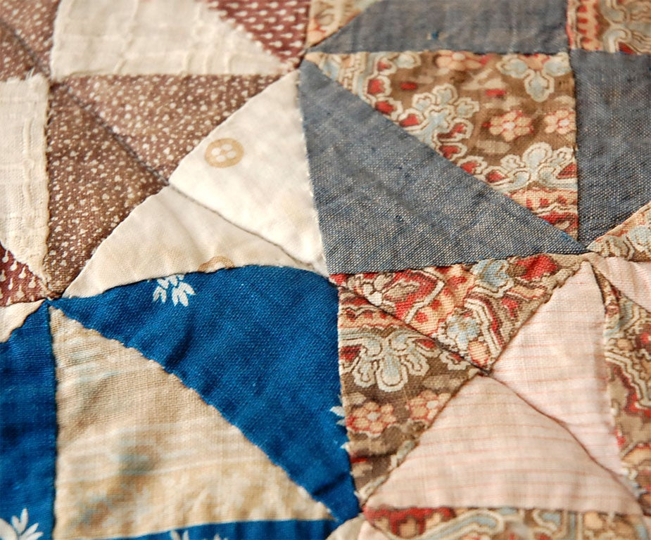 19TH C. DOLL QUILT ON A PROFESSIONAL MOUNT 4