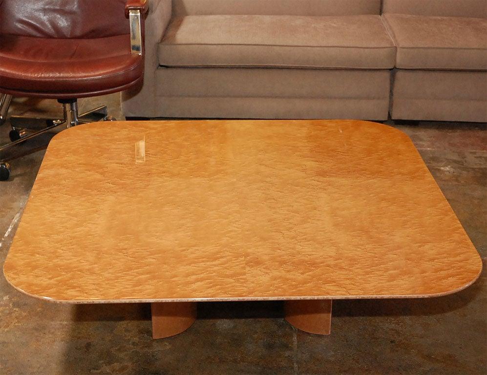 Bird 39 S Eye Maple Coffee Table By Saporiti At 1stdibs