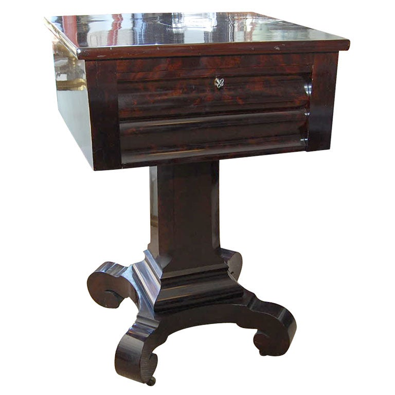 American empire 2 drawer stand at 1stdibs for American empire bedroom furniture