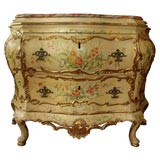 18th c. Italian Painted Bombe Commode