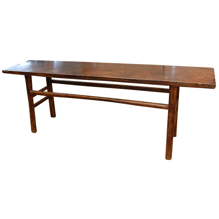 Elm chinese serving table almost 7 ft long at 1stdibs for Sofa table 6 ft