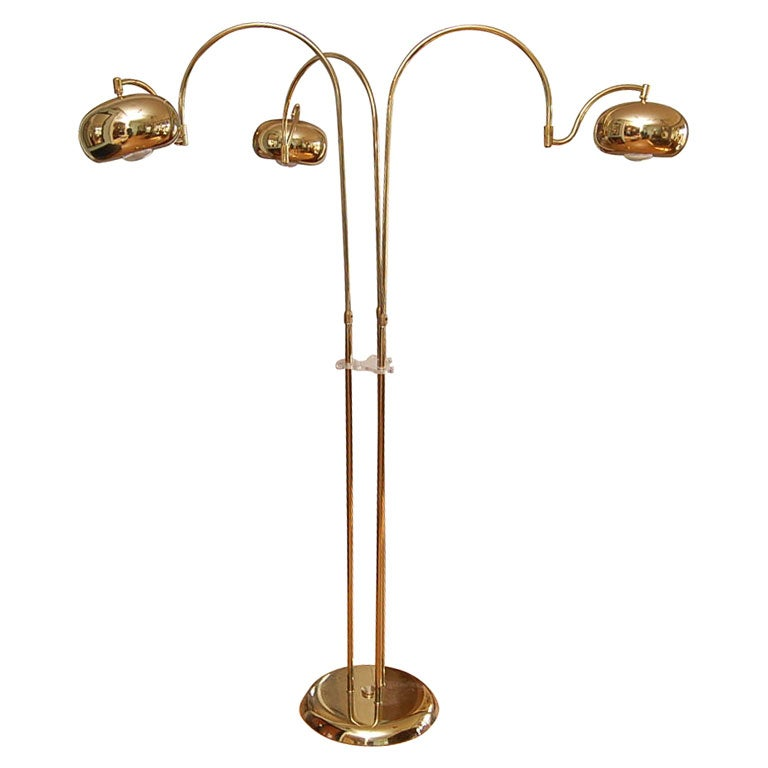 this three light floor lamp in brass is no longer available. Black Bedroom Furniture Sets. Home Design Ideas