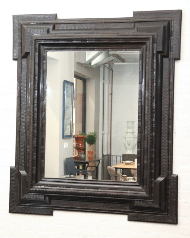 Antique Ebonized Flemish Mirror At 1stdibs