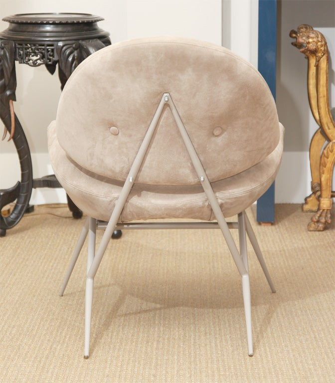 1960 S Saddle Chairs Upholstered In Cappuccino Suede At