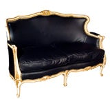 Louis XV Style Parcel-Gilt and Paint Decorated Settee