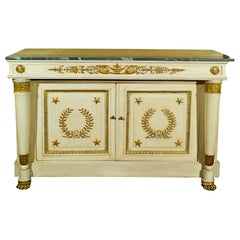 Early 19th Century Swedish Giltwood Commode with Marble Top