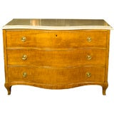 Jansen Stamped Yew Wood Marble-Top Commode