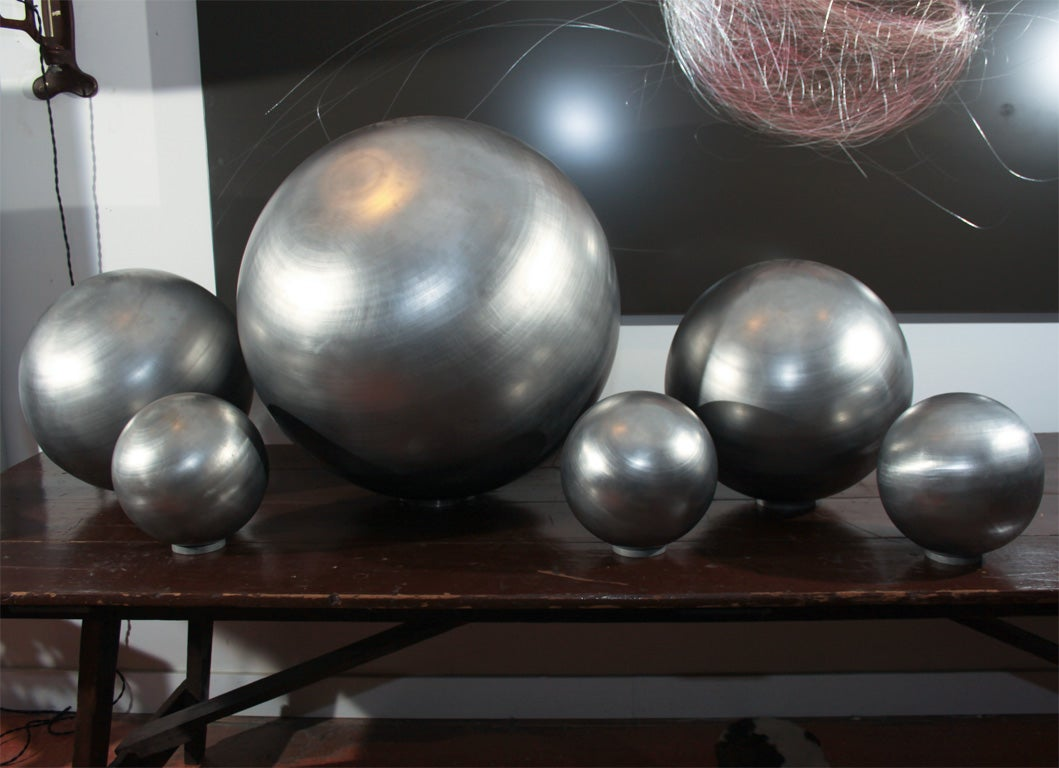 Set of Spun Steel Spheres 2