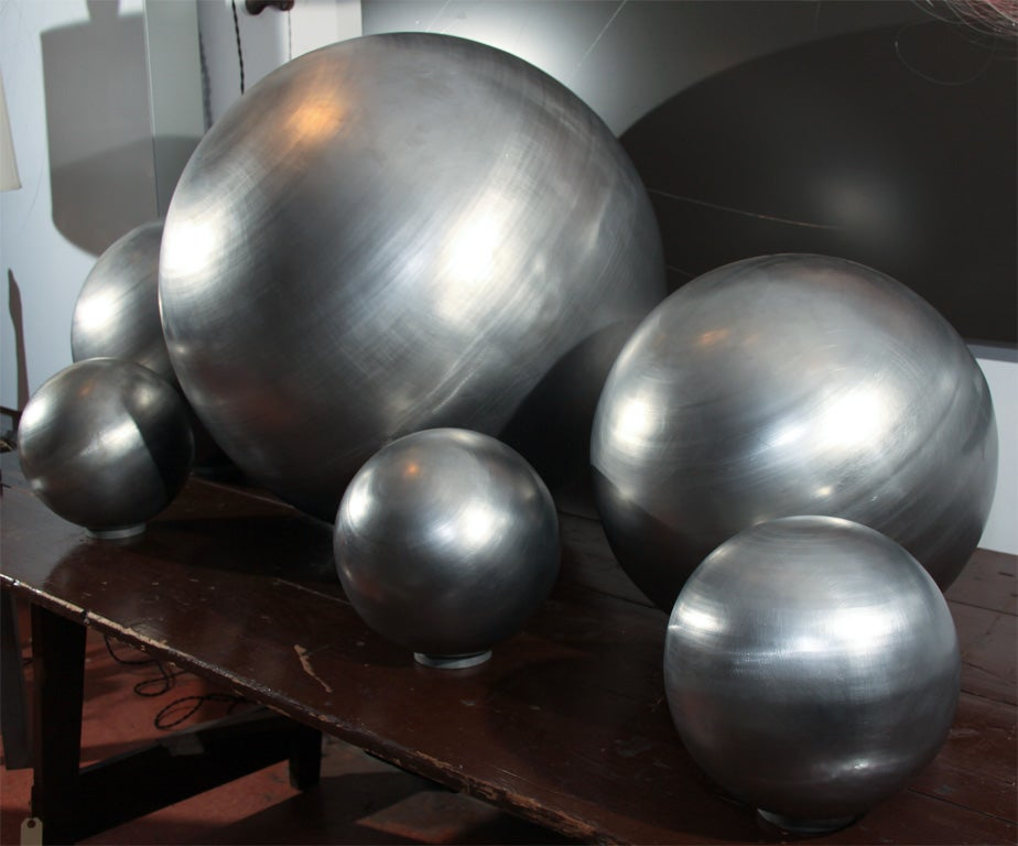 Set of Spun Steel Spheres 3