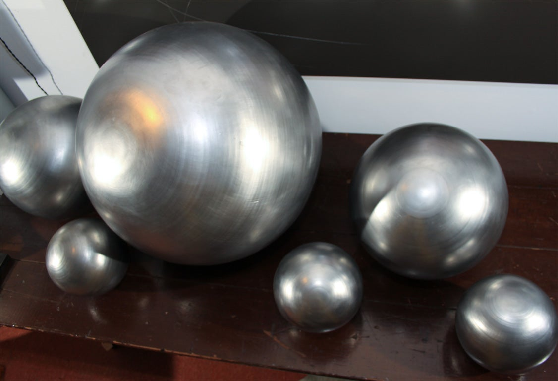 Set of Spun Steel Spheres 8