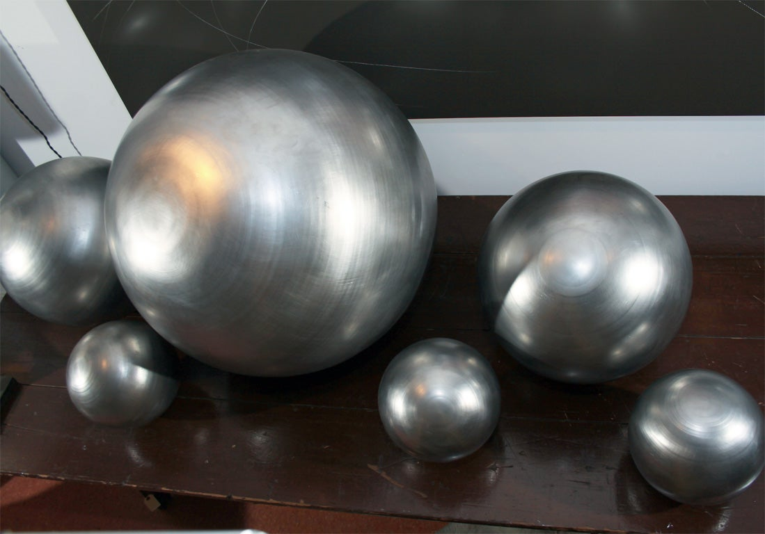 Set of Spun Steel Spheres 9