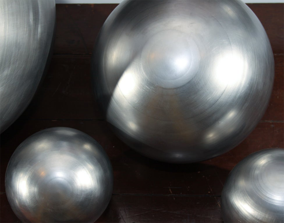 Set of Spun Steel Spheres 10