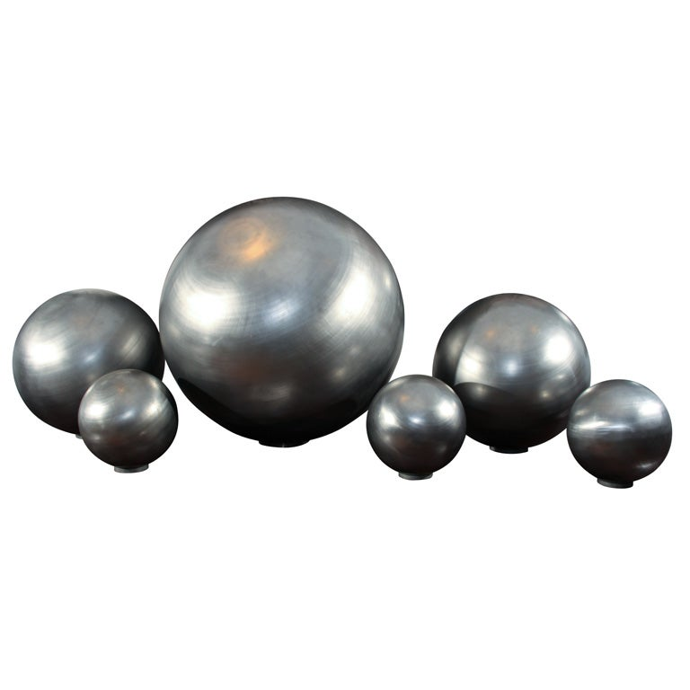 Set of Spun Steel Spheres 1