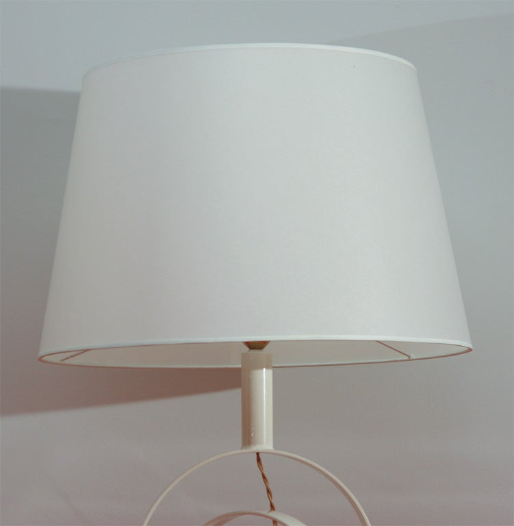 French Concentric Table Lamp For Sale