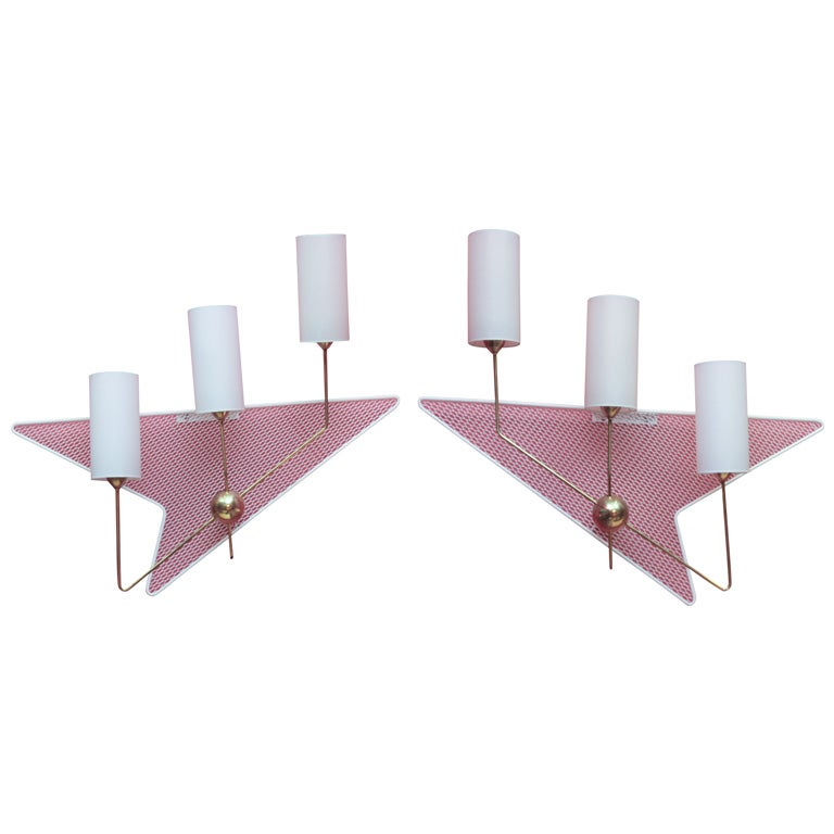 Large Pair of Sconces by Arlus