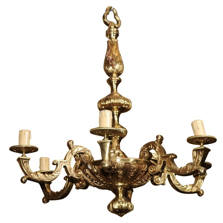GILT BRONZE CHANDELIER At 1stdibs