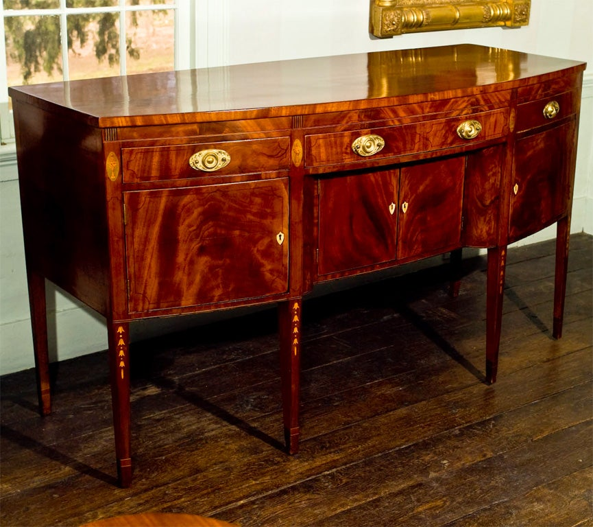 Baltimore Federal Inlaid Mahogany Sideboard 2 - Baltimore Federal Inlaid Mahogany Sideboard At 1stdibs
