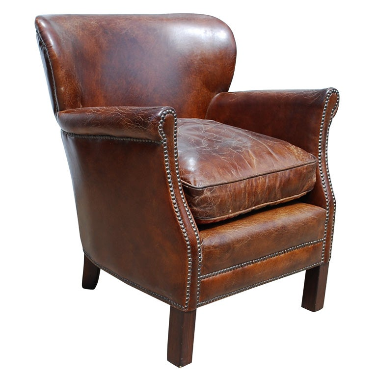 Small Leather Armchair At 1stdibs