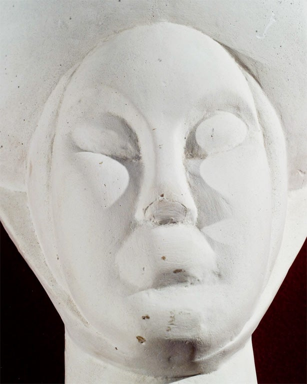 Mid-20th Century French Plaster Head For Sale