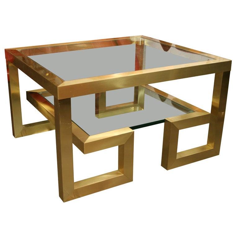 Pair Of Greek Key Tables 1