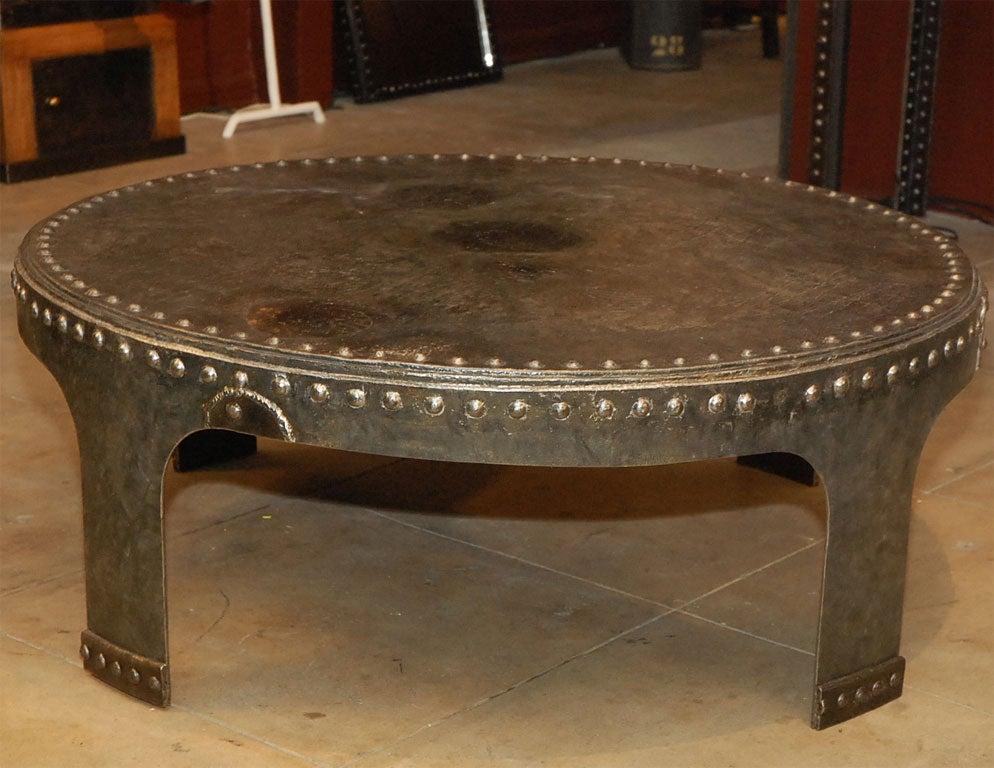 Steel Tank Coffee Table At 1stdibs
