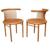 Set of Four Molded Wood Laminate Chairs