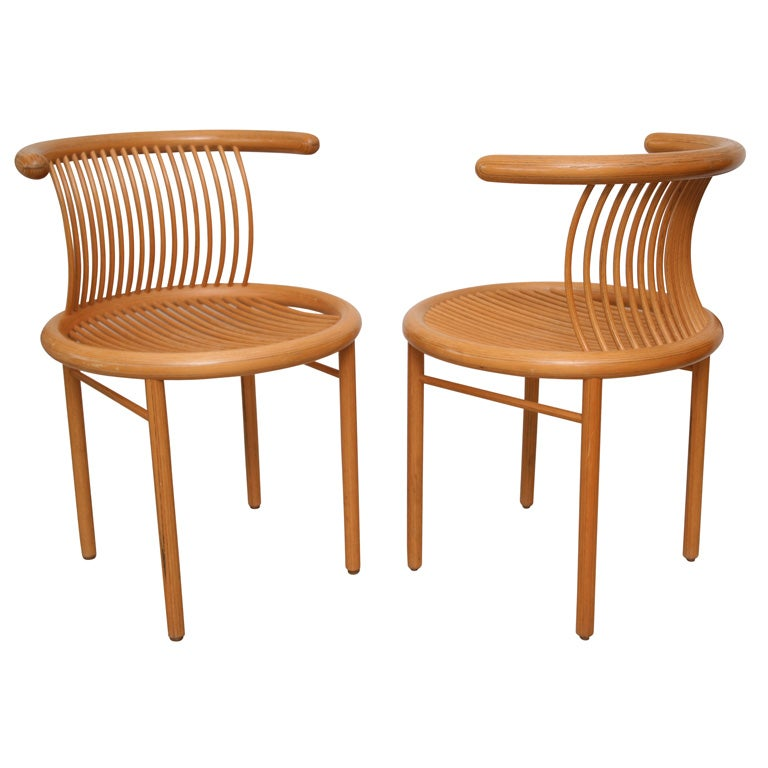 Set Of Four Molded Wood Laminate Chairs At 1stdibs
