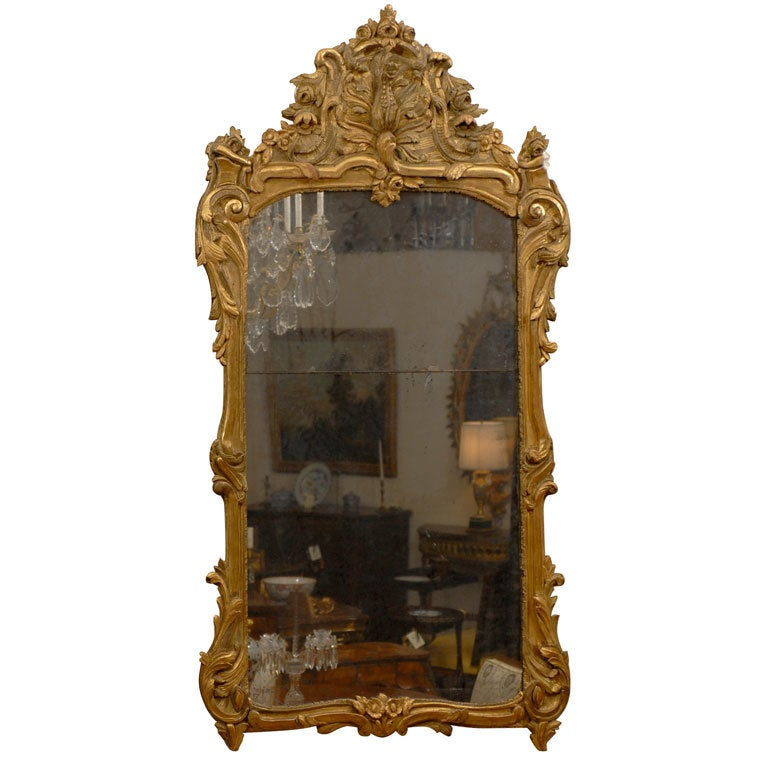 Large Early Louis XV Period Mirror, France c. 1725