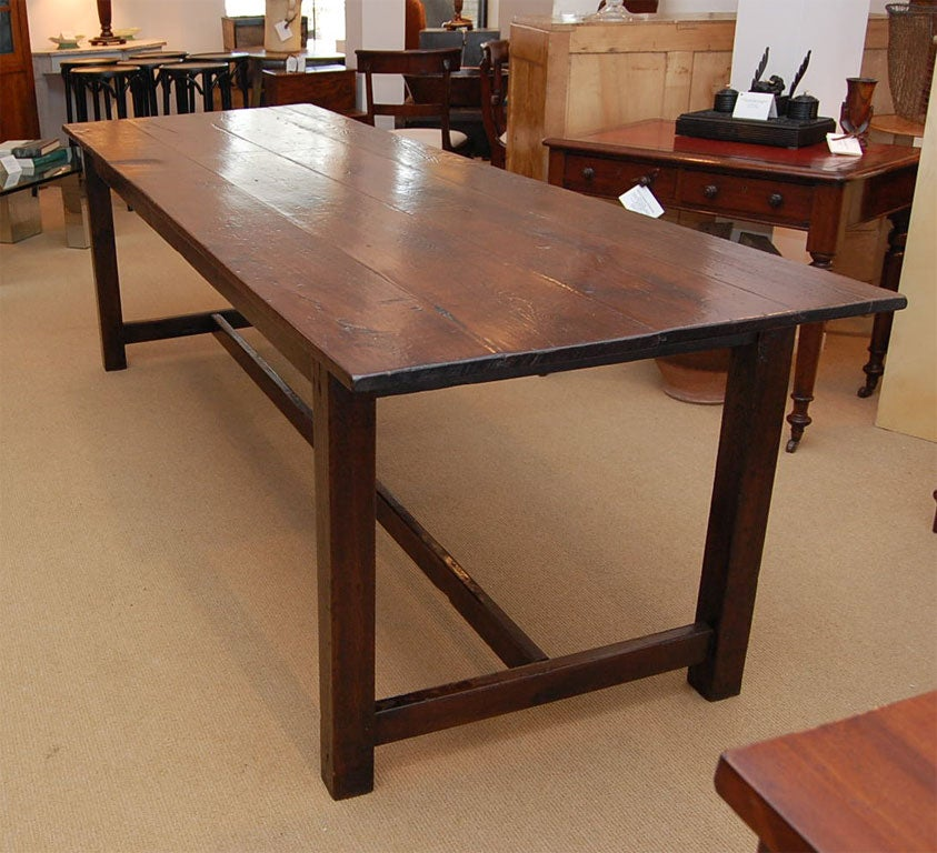8 Foot Plus Farmhouse Dining Table at 1stdibs