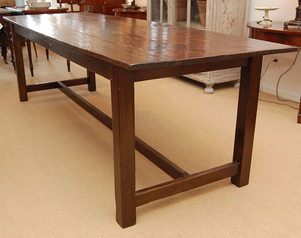8 foot plus farmhouse dining table at 1stdibs for 5 foot dining room table