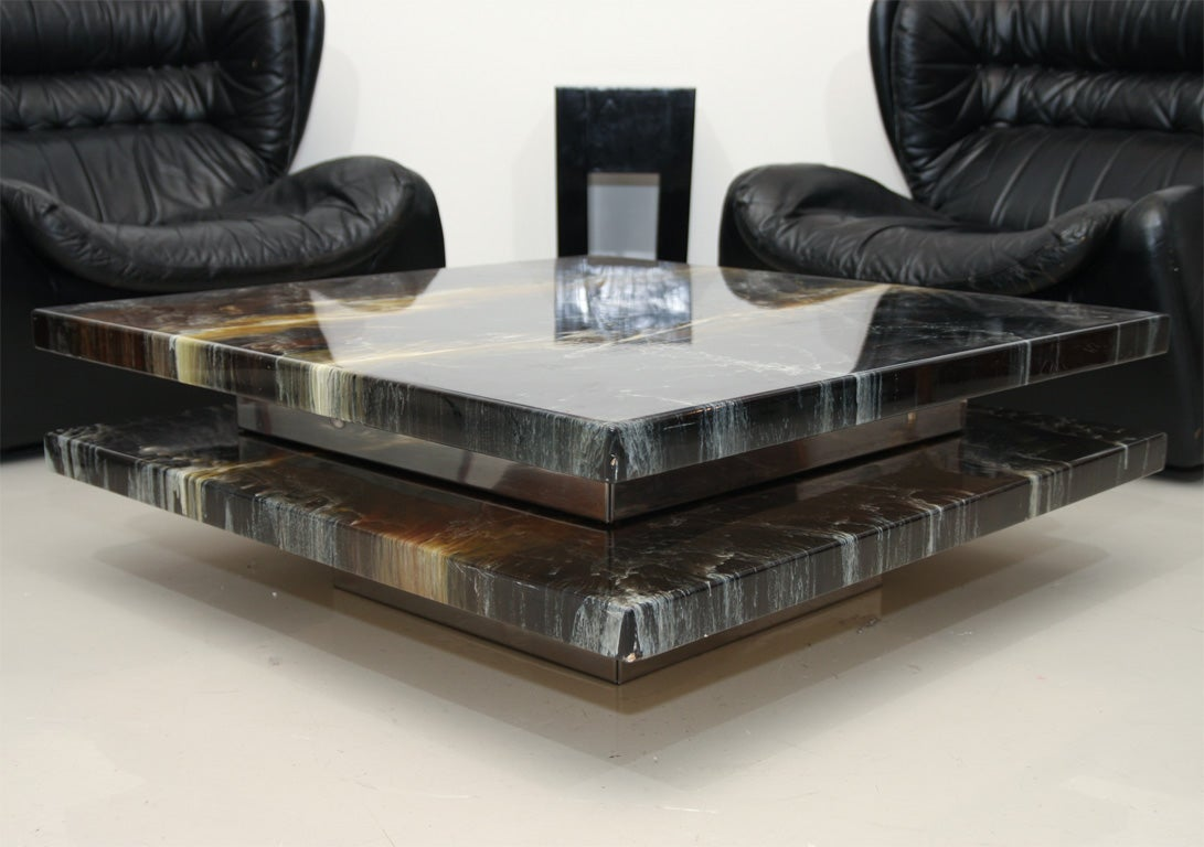 Stacked French Resin Coffee Table At 1stdibs