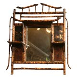 Rare 19th Century Brighton Beach Bamboo Mirror
