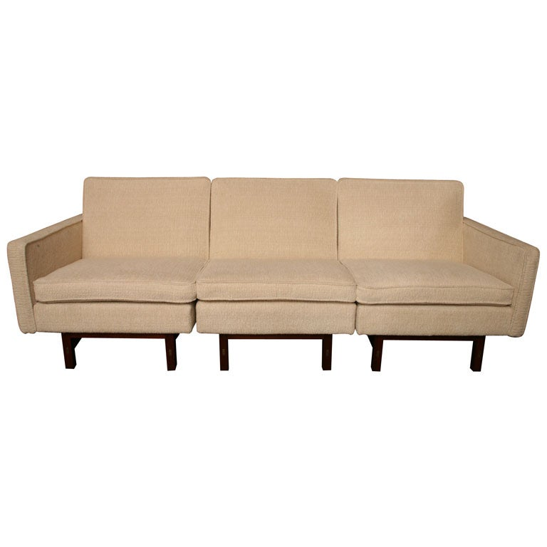 Sleek 5039s sectional sofa at 1stdibs for 50s sectional sofa