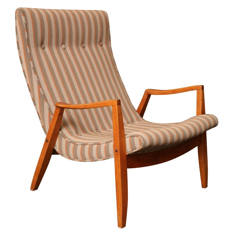 50 S Milo Baughman Scoop Lounge Chair And Ottoman At 1stdibs
