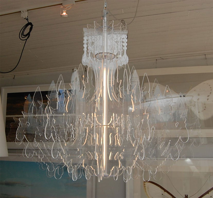 Acrylic Polycarbonate Chandelier For Sale At 1stdibs