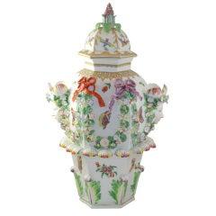 Bristol Porcelain Hexagonal Frill Vase