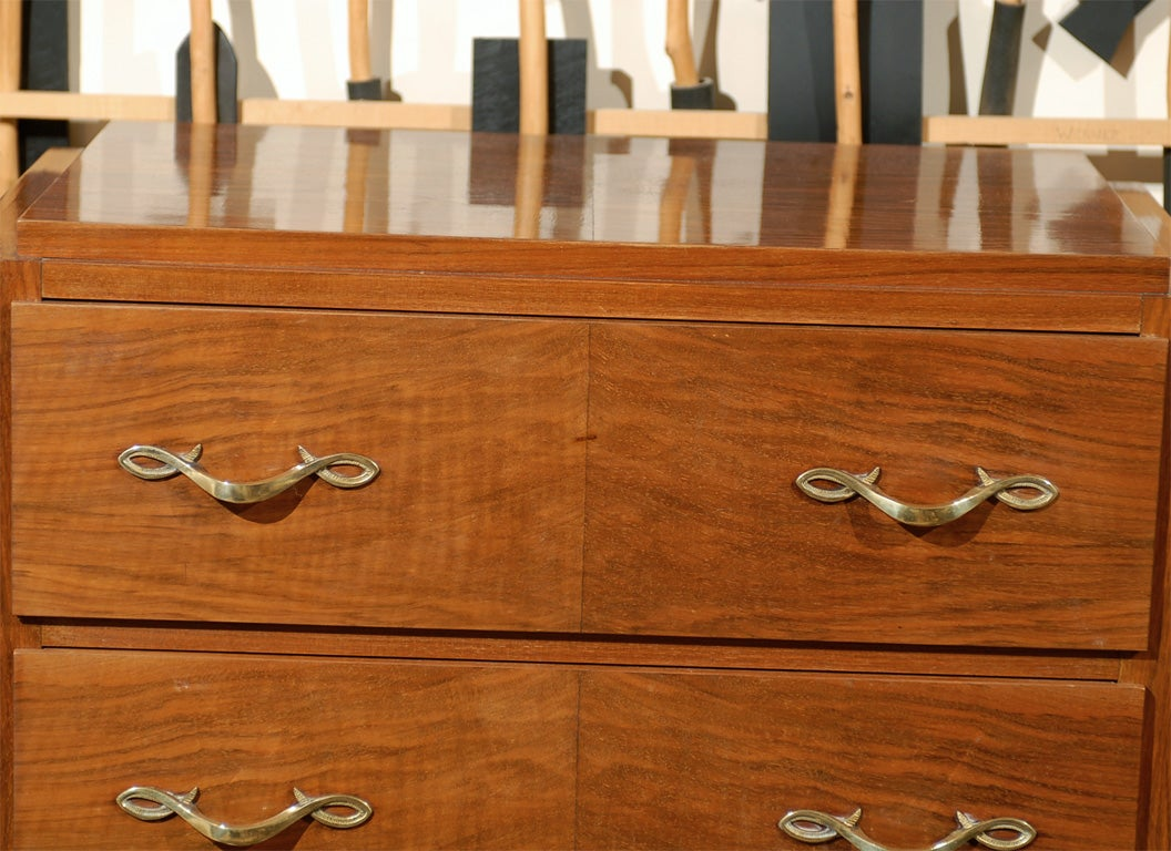 chiffoniere with exceptional bronze poignees at 1stdibs. Black Bedroom Furniture Sets. Home Design Ideas