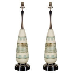 Pair of Ceramic Midcentury Lamps