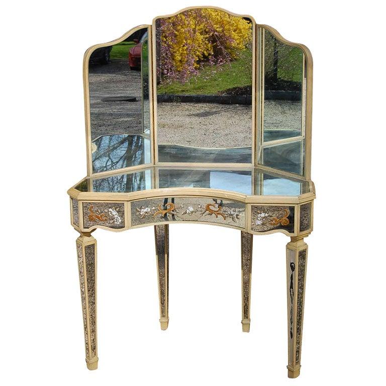 beautiful corner mirrored vanity at 1stdibs