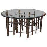 UNIQUE WELDED IRON SCULPTURE TABLE