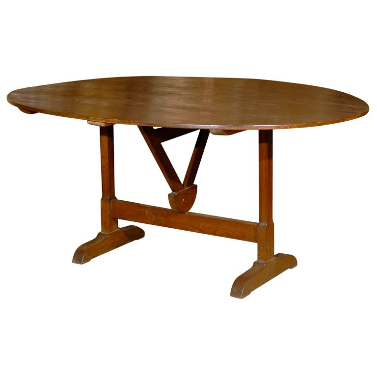 French Oval Wine Tasting Table At 1stdibs