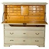 19thC Swedish Painted Drop Down Secretary over 3 drawers